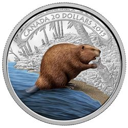 2015 $20 Beaver at Work - Pure Silver Coin