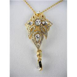 Estate - Custom Design Necklace, 18kt Gold Plated/