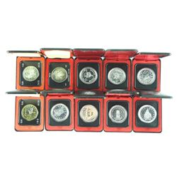 Lot (10) Cased Silver Dollars