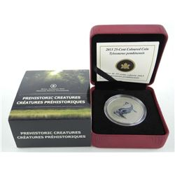 RCM 25 Cent Coloured Coin 2013 Tylosaurus Sold Out