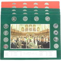 Lot (5) Early Canada Art Boards with 12 Canada 25