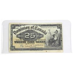 Dominion of Canada 1900 25 Cent Notes. Courtney