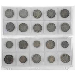 Lot (20) Early Canada Silver Coins