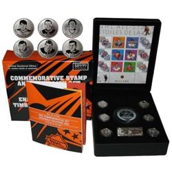 NHL ALL STARS - Medallion and Stamp Set. Issue 89.