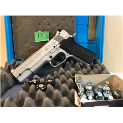 CROSMAN, 1008 REPEATAIR, .177 PELLET GUN WITH HARD CASE & CO2 & PELLETS.