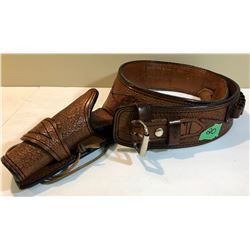 HOLSTER & BELT - EXCELLENT QUALITY - HAND CRAFTED TOOLED MEXICAN LEATHER