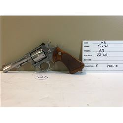 SMITH & WESSON, MODEL 63, .22 LR