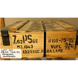 AMMO: 28 KG SEALED CRATE 7.62 X 39 FMJ - ROMANIAN