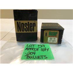 APPROX 164 X .204 BULLETS - NOSLER