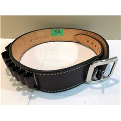 BOB MERNICKLES CUSTOM HOLSTERS LEATHER AMMO BELT - SZ 37