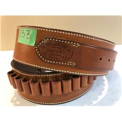 EL PASO, TEXAS LEATHER AMMO BELT