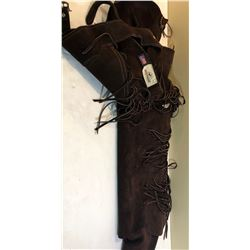 """WHITMAN USA SUEDE CHAPS - APPROX 36"""""""