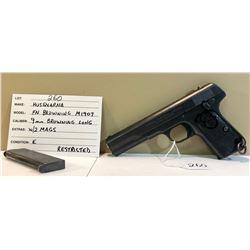HUSQVARNA, FN BROWNING M1907, 9 MM BROWNING LONG