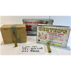 AMMO:  48 X .303 LIVE. 24 X .303 BRASS WITH COLLECTORS BOX.