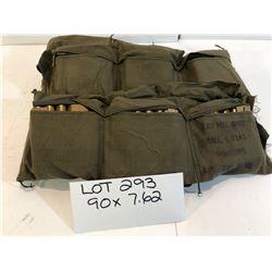 AMMO:  90 X 7.62 NATO ON STRIPPER CLIPS IN BANDOLIER