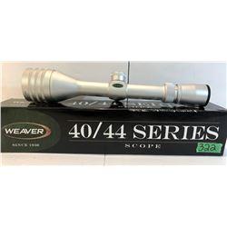 WEAVER 40 / 44 SERIES SCOPE, 4 - 12 X 44 AO - AS NEW