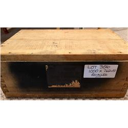 AMMO:  1000 X 7.62 X 51 IN SEALED WOOD CRATE