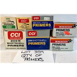 LARGE QTY MISC PRIMERS - MAINLY FULL
