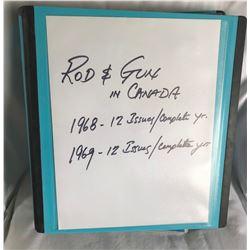 ROD & GUN CANADA MAGAZINE - COMPLETE SET FOR 1968 & 1969