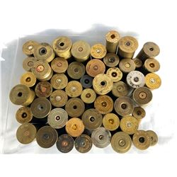 LARGE COLLECTION OF BRASS CASINGS IN VARIOUS CALIBERS