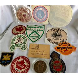 GR OF 13 PATCHES / BADGES / STICKERS.