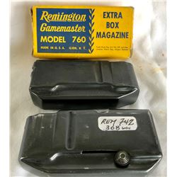 GR OF 2 MAGAZINES. REMINGTON 760 WITH ORIGINAL BOX & REM 742