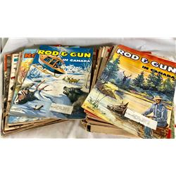 LARGE COLLECTION OF ROD & GUN MAGAZINES - 1968