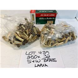 BRASS:  250 X .32 S&W - MAINLY LAPUA