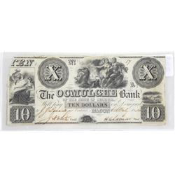 The OCMULGEE Bank 1840 Ten Dollars (MKE)