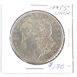 1891 (S) USA Silver Morgan Dollar UNC (SOR) (12)