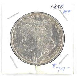 1890 USA Silver Morgan Dollar (EF) (IK) (11)