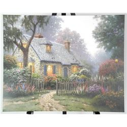 Thomas Kinkade - (1958-2012) Canvas - Gallery Wrap Signed Approx. 24x30 Inches.