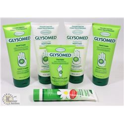 BAG OF ASSORTED GLYSOMED HAND CREAMS