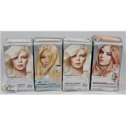 4 BOXES OF L'OREAL FERIA HAIR DYE