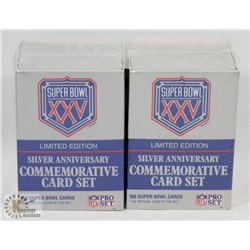 2 SILVER ANNIVERSARY COMMEMORATIVE CARD SET