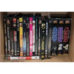 STAR WARS BOX SET AND OTHER ASSORTED DVDS.