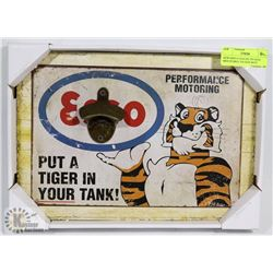 NEW ESSO GASOLINE TIN SIGN MOUNTABLE TIN SIGN BOTTLE