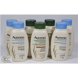BAG OF ASSORTED AVEENO BODY WASH