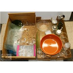 2 BOXES OF ESTATE GLASSWARE,  INCLUDES DOMEX