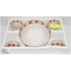 VINTAGE GLASSES AND PUNCH BOWL SET