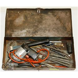 BOX WITH DRILL AND WRENCHES