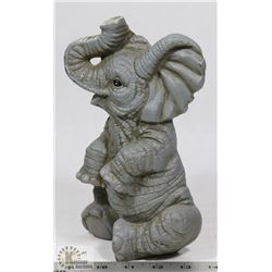 "CAST IRON ELEPHANT 9"" AND 5""."
