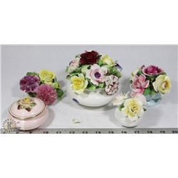 FLAT OF ASSORTED BONE CHINA.