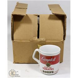 NEW SET OF 4 CAMPBELL TOMATO SOUP CUPS.