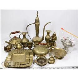 FLAT OF ASSORTED BRASS ORNAMENTS