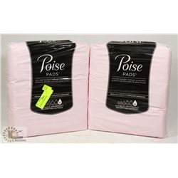 2 PACKS OF POISE PADS.