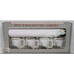 MUG N MAT 8PC GIFT SET.