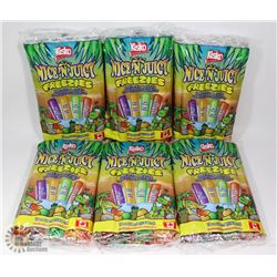 6 BAGS OF FRUIT FLAVOUR FREEZIES (18 X 66ML EACH)