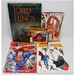 LOT OF SUPER HERO COMIC AND BOOKS