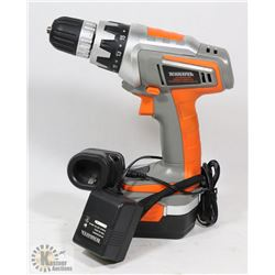 TERRATEK 18V DRILL WITH CHARGER